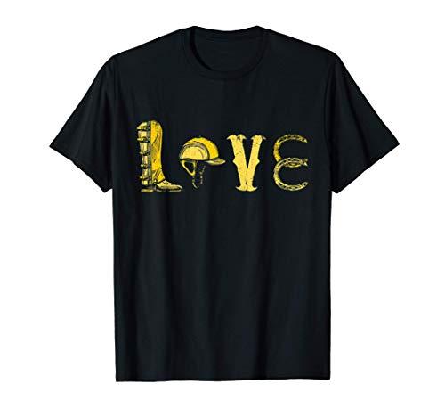 Amor lindo ecuestres Símbolos caballo regalo Hípica Camiseta