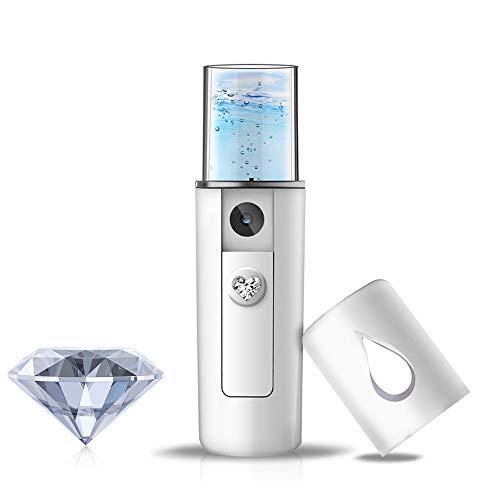 YDI Pulverizador Facial Nano, Mini Vaporizador de Vapor Portátil para Belleza Limpieza Facial Poros Agua SPA Hidratante – Blanco
