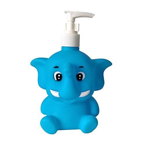 Vinyl Blue Elephant Hand Soap Pump Dispenser Sanitizer Bottle 11oz Baby Kids Adults for Kitchen and Bathroom Accessories Animal Countertop