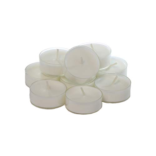 CandleNScent White Scented Holiday Candles Tea Lights Variation – Vanilla Peppermint Snow - Pack of 12