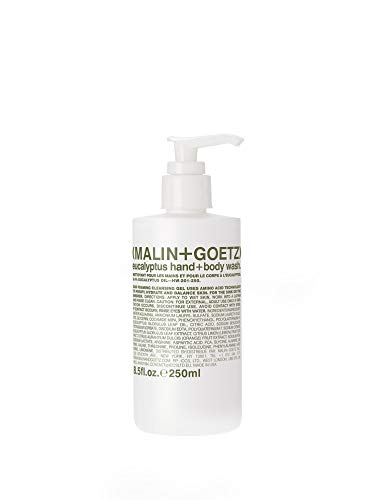 Malin + Goetz Eucalyptus Hand + Body Wash – natural hydrating soap,cleansing and purifying for all skin types, prevents stripping or irritation on sensitive skin. Cruelty-free. 8.5 fl oz