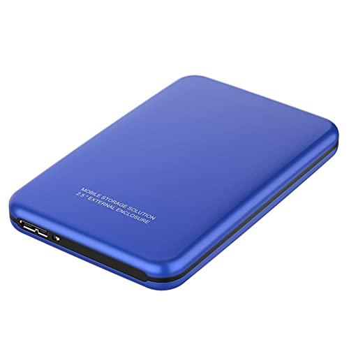 Disco duro externo HDD de 1 Tb/320 Gb/60 GB, USB 3.0 portátil de almacenamiento de copia de seguridad móvil, adecuado para PC, portátil, escritorio, MacBook, Xbox One, Ps4, Smart TV (500 GB, azul)