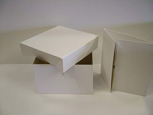 It 's Just a Caja para Tartas Caja con Tapa (30cm), Color Blanco