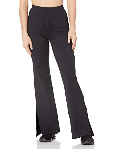 Skechers Women's Misses Go Walk Air High Waisted 4 Pocket Flare Pant with Side Slit, Black, M