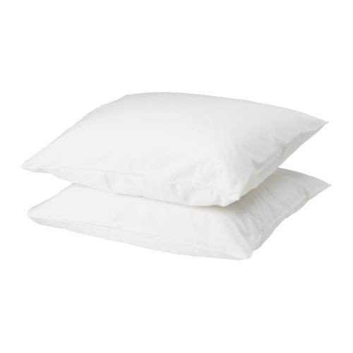 IKEA DVALA Kopfkissenbezug in weiß (80x80cm); 2er Pack