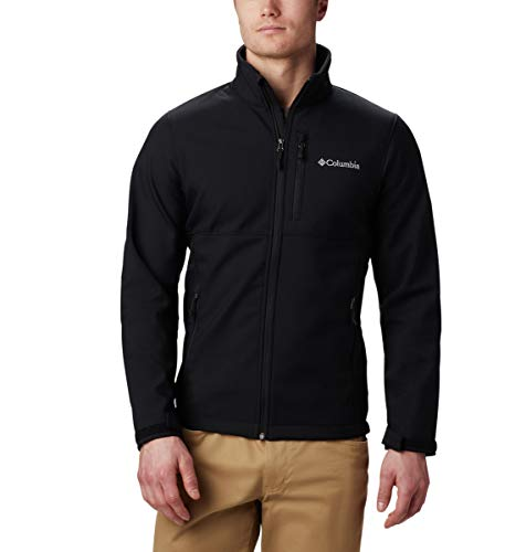 Columbia Men's Ascender Softshell Jacket, Water & Wind Resistant, Black, Large