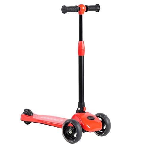 ygqtbc Niños Kick Scooter con Altura Ajustable, Lean en Steer, Intermitente Ruedas for niños 3-8 años (Color : B)