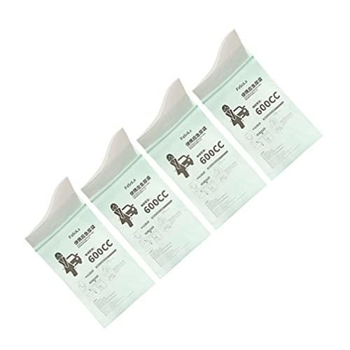 Healifty Urinpåsar Unisex Stor Kapacitet Pee Bag För Män Kvinnor Barn Barn Patient Akut Toalett under Trafiken Jam Och Resa Grön 4St.
