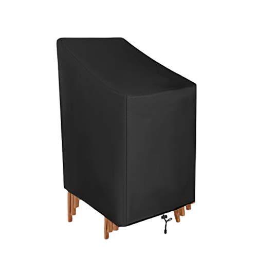 QZMVER - Funda para silla de jardín (resistente al agua, 420D, tela Oxford, resistente al viento, revestimiento anti-UV, para silla de jardín (65 x 65 x 80/120 cm)