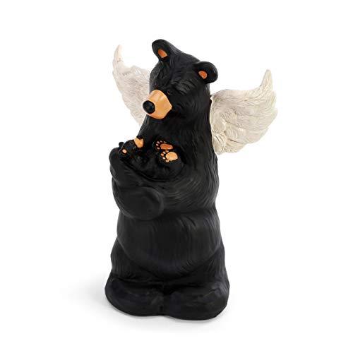 DEMDACO Little Angel Bear Black 5 x 2 Hand Cast Resin Stone Collectible Figurine