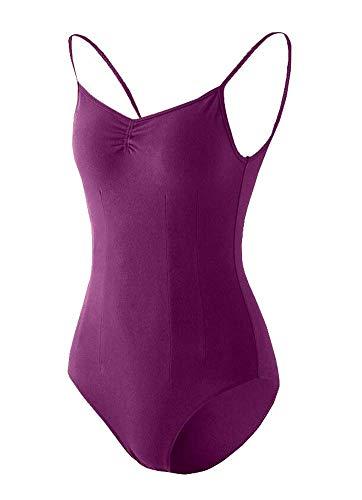 Black Temptation Costume de Gymnastique Femme Dancewear Combinaison de survêtement Ballet Topwear Court Dark Purple