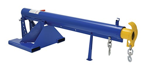 """Vestil LM-OBT-6-24 Orbit Telescoping Lift Boom, 6000 lb Capacity, 24"""" Fork Pocket Center, Overall LxWxH (in.) 32 x 86.625 x 27.6875, Overall Extended Length (in.) 146-5/8, Blue"""