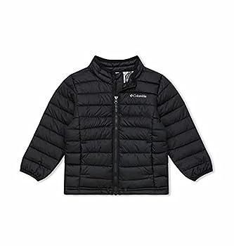Columbia Boys Powder Lite Jacket Black ,3T Toddler Boys