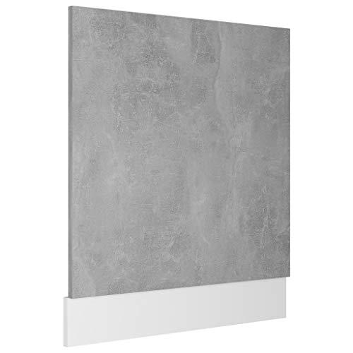vidaXL Panel de lavavajillas aglomerado blanco brillo 59,5x3x67 cm
