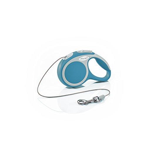 FLEXI Vario Laisse avec Cordon pour Chien Turquoise 3 m Taille XS