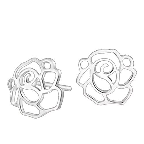 Pendientes de plata de ley 925 con diseño de aguja