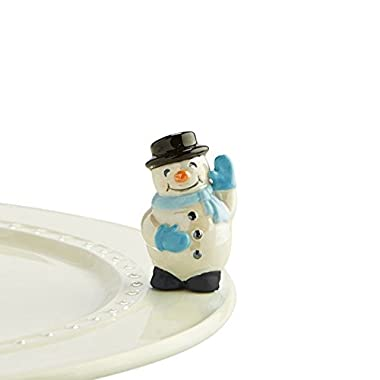 Nora Fleming Snowman Mini - Frosty Pal - Hand-Painted Ceramic Charm - A172