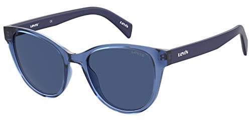 Levi's Gafas de sol Lv 1014/S Cat Eye para mujer, Azul / Patchwork,