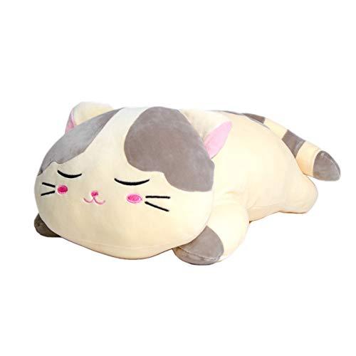 "Krisphily Very Soft Plush Cat Hugging Pillow Stuffed Animals Kitten Kitty Toys Baby Gifts (Gray, 19.5"")"