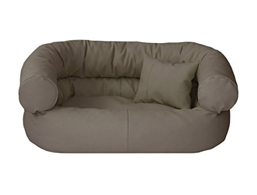 Artur Soja Fergus – Cuccia per cani in ecopelle, divano per cani, M 60 x 80 cm, beige scuro