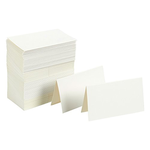 Best Paper Greetings Event Place Cards (100-Pack) - Small Tent Cards in White - Ideal for Weddings, Banquets, Special Events - 2 x 3.5 Inches Folded