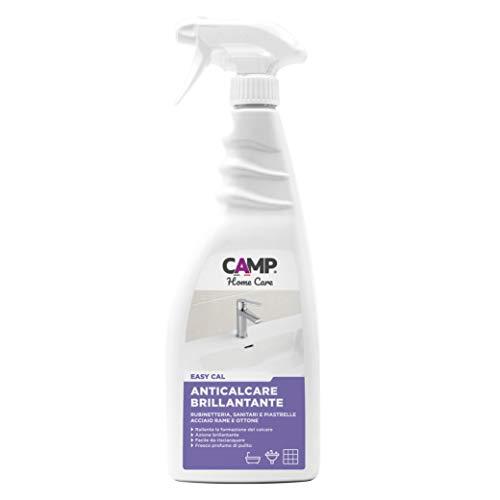 Camp EASY CAL, Detergente anticalcare brillantante e protettivo per rubinetti, piastrelle, ceramiche e box doccia