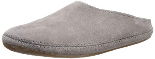 Haflinger Unisex-Erwachsene Softino Pantoffeln, Grau (Graphit 77), 36 EU