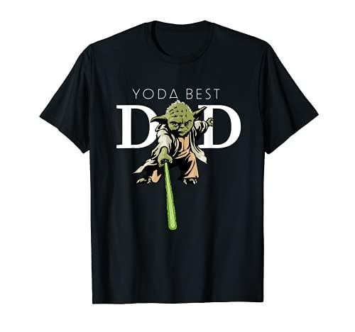 Star Wars Yoda Lightsaber Best Dad Father's Day Men's T-Shirt