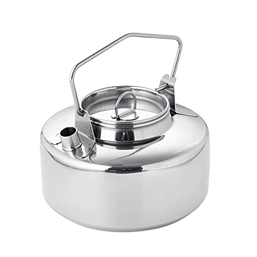YourBoob Tetera Portátil De Aluminio para Acampar Y Senderismo De 1,2 L, Tetera Portátil, Compacta Y Ligera, para Acampar, Senderismo, Cocina
