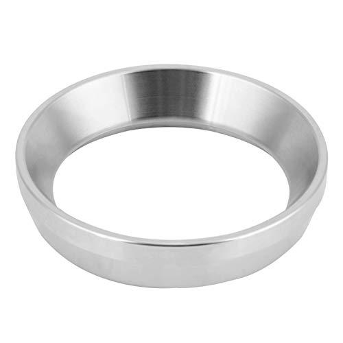 Anillo dosificador universal Anillo dosificador de café Anillo dosificador de café de 58 mm para portafiltro(Stainless steel material [silver])