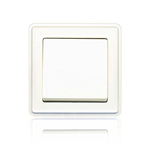 minify programa interruptor empotrable ECO Plus con VDE - Blanco, simple: Apagado-Cambio