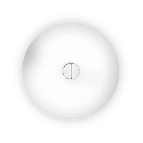 Flos Button Fl Deckenleuchte/Wandleuchte, Opalglas, Polycarbonat, Weiß