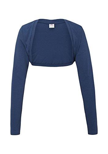 s.Oliver Mädchen Strickjacke 66.505.31.2109, Einfarbig, Gr. 164 (Herstellergröße: L), Blau (Blue 5724)