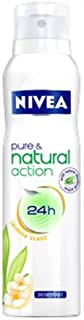 Nivea Pure & Natural Action, JASMIN Scent, 150 ML Deodorant Spray