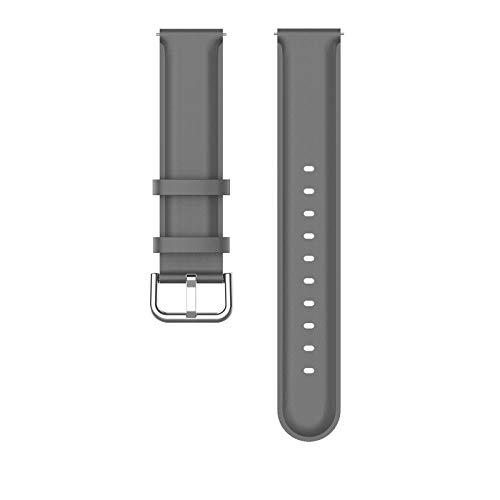 YOKING Hua-wei Watch GT2 Pro - Pulsera de piel con cola redonda para hombre