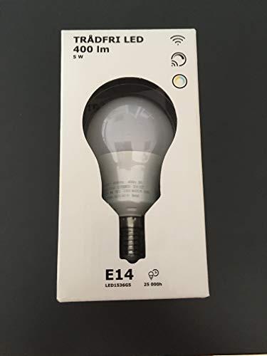 IKEA TRADFRI LED-Lampe in opalweiß; Weißspektrum; E14; 400lm; dimmbar; A+
