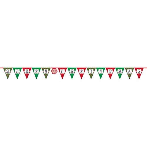 Amscan International Bannière Fanion 120224 3,8 m Joyeux Noël