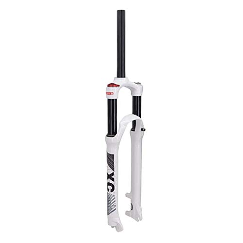 TYXTYX Horquilla de suspensión de Bicicleta 26'27,5 Pulgadas 29er Horquilla Delantera MTB, Recorrido de Choque Efectivo: Sistema de Doble cámara de Aire de 120 mm