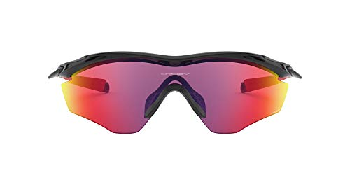 Oakley Men's OO9343 M2 Frame XL Shield Sunglasses, Polished Black/Prizm Road, 45 mm