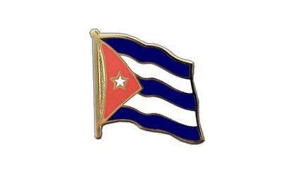 Kuba Flaggen Pin, kubanische Fahne 2x2cm, MaxFlags®