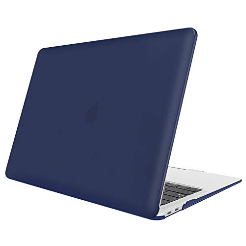 FINTIE Case for MacBook Air 13 Inch (2020 & 2019 & 2018 Release) A2179 / A1932 - Protective Snap On Hard Shell Cover for New MacBook Air 13 Retina Display with Touch ID, Navy