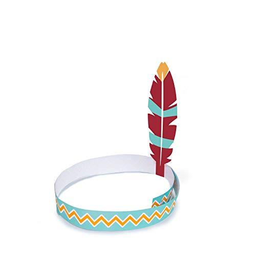 amscan 9904145 - 4 cintas para el pelo, diseo de Tepee & Tomahawk, multicolor