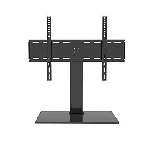 RENJUN- Tisch-TV-Ständer Geeignet for 32-65in TV Mit Robuster Basis Aus Gehärtetem Glas Höhenverstellbar Kann Bis Zu 55 Kg Unterstützen Fernsehtisch VESA600x400mm