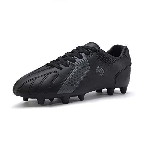DREAM PAIRS Boys Hz19006k Soccer Football Cleats Shoes Black Dark Grey Size 3 M US Little Kid
