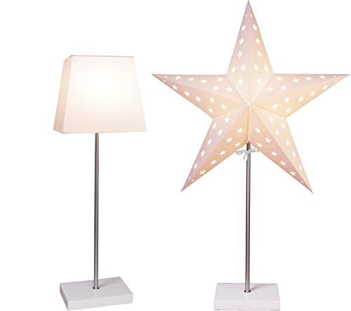 "Bestseason Floor Lamp Star On Base ""Combi-Pack"" beige 52,5 x 20 cm"