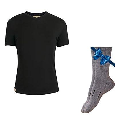 100% NZ Organic Merino Wool Lightweight Women's T-Shirt + Merino Wool Hiking Socks Bundle | Short Sleeve Crew Tee