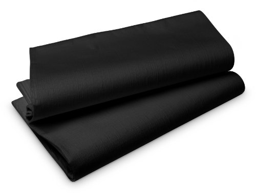 Duni 166369 tabel bevat, Evolin, 127 cm x 127 cm, zwart (50 stuks)