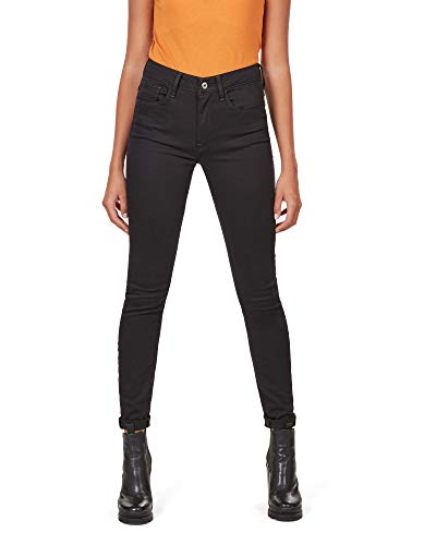 G-STAR RAW Damen 3301 Deconstructed High Waist Skinny Jeans, Schwarz (Rinsed 8970-082), 30W / 32L
