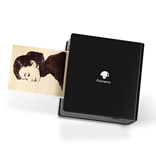 Phomemo M02 Mini Drucker Handy Drucker Bluetooth Taschendrucker Fotodrucker Tragbarer mobiler Drucker, kompatibel mit Android und iOS System, für Bullet Journal, Fotos, Studie, Geschenk, Schwarz