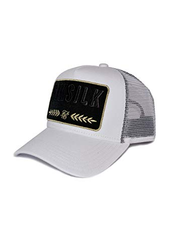 Sik Silk SS-15960 Washed Cotton Mesh Trucker Cap - White White